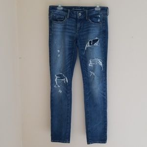 AE American Eagle Destroyed Stretch Skinny Jeans